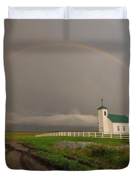 St Procopius Rainbow Duvet Cover