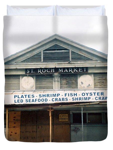 St Roch Market Duvet Cover
