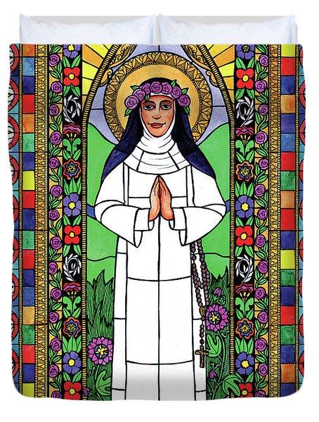 St. Rose Of Lima Duvet Cover