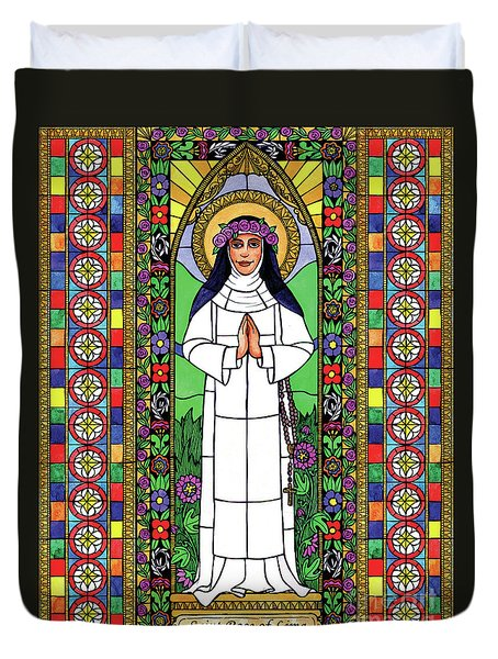 St. Rose Of Lima Duvet Cover
