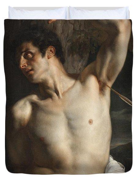 St. Sebastian Duvet Cover by Hippolyte Paul Delaroche