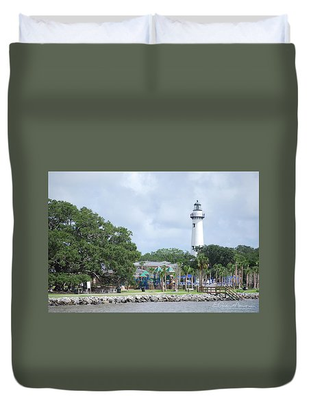 St. Simons Island Light Duvet Cover