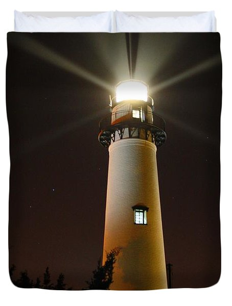 Duvet Cover featuring the photograph St Simons Island Lighthouse by Kathryn Meyer
