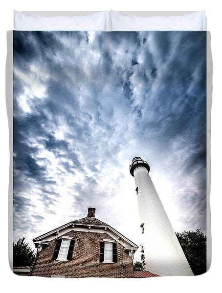 St Simons Lighthouse Duvet Cover