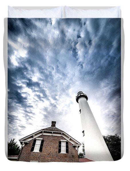 St Simons Lighthouse Duvet Cover