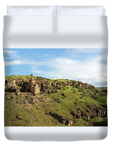 St. Stepanos Church At Sunrise, Armenia Duvet Cover