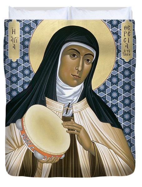 St. Teresa Of Avila - Rltoa Duvet Cover