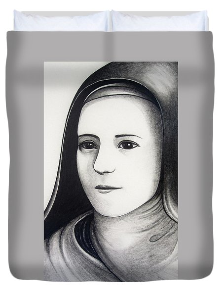 St. Therese Of Lisieux Duvet Cover