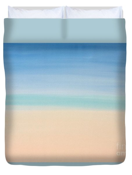 St Thomas #2 Seascape Landscape Original Fine Art Acrylic On Canvas Duvet Cover