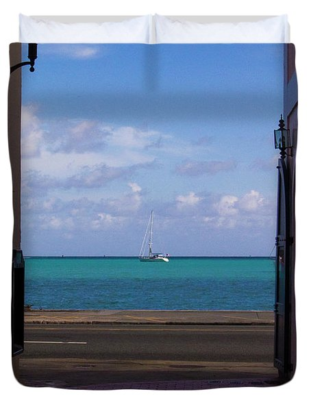 St. Thomas Alley 1 Duvet Cover by Tim Mulina