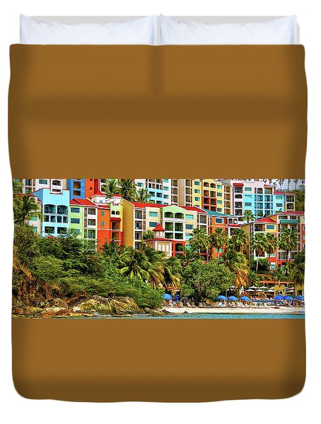 St. Thomas Panorama Duvet Cover