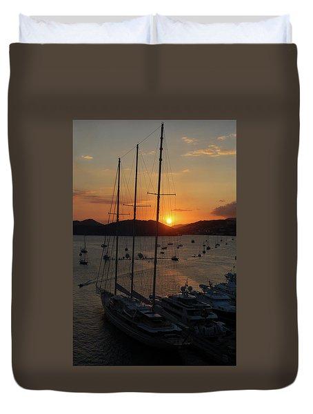 St. Thomas Sunset Duvet Cover