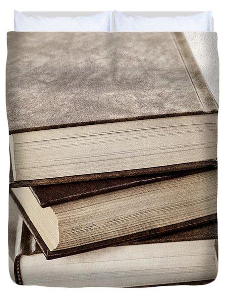 Stack Of Books Duvet Cover