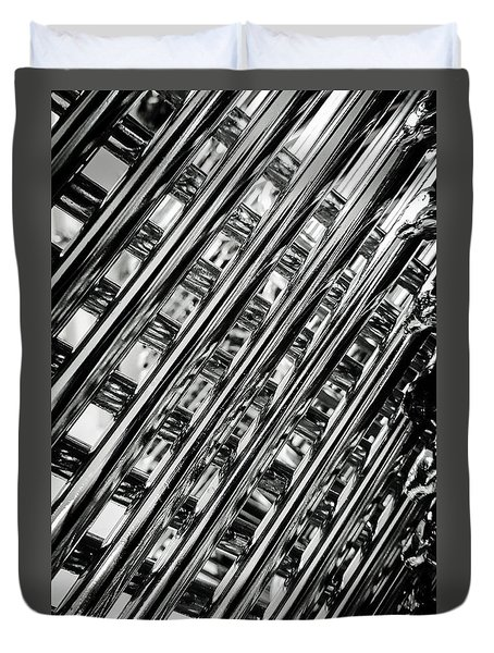 Duvet Cover featuring the photograph Stacked Chairs Abstract by Bruce Carpenter