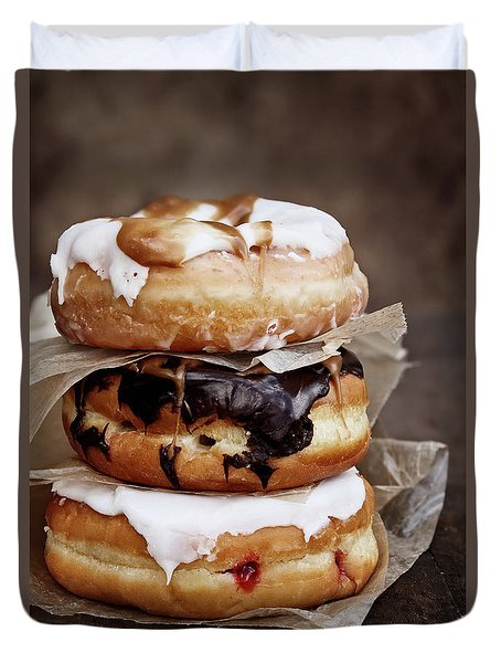 Stacked Donuts Duvet Cover