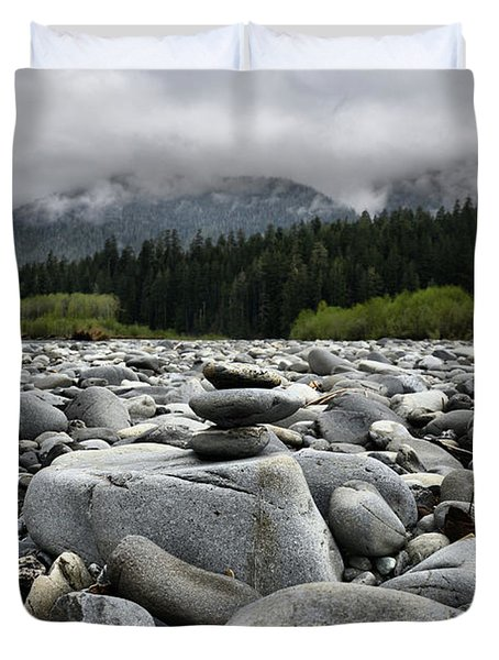 Stacked Rocks Duvet Cover