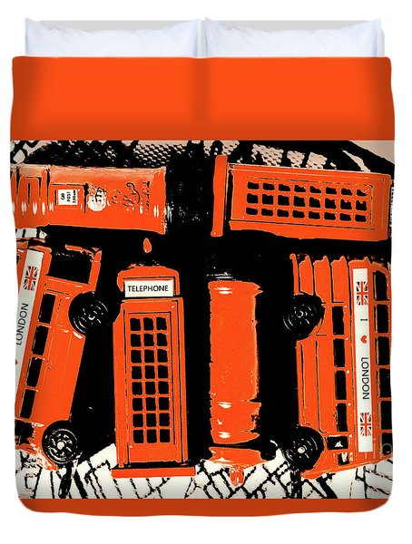 Stacking The Double Deckers Duvet Cover
