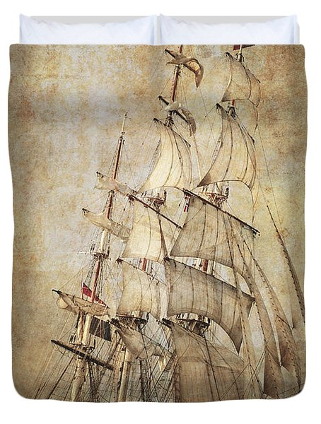 Stad Amsterdam 3 Masted Clipper Duvet Cover