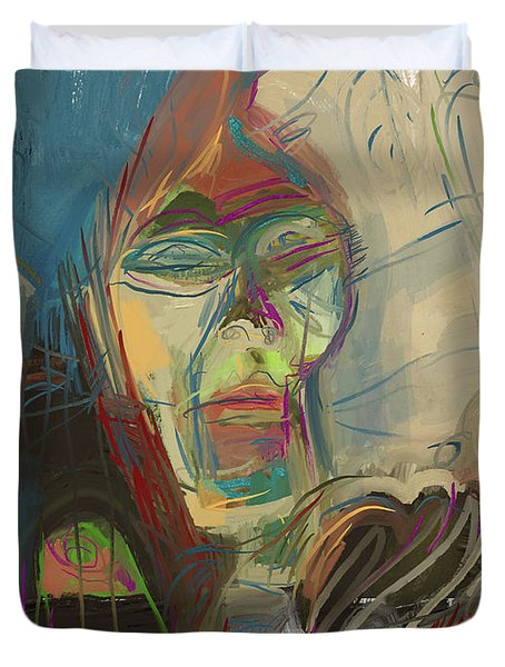 Stage Fright Duvet Cover by Russell Pierce