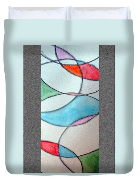 Stain Glass Duvet Cover by Loretta Nash
