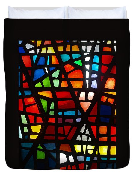 Duvet Cover featuring the photograph Stained Glass 2 by Michael Canning