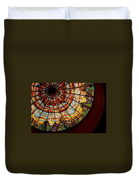 Stained Glass Ceiling Duvet Cover by Jerry McElroy