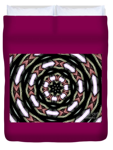 Stained Glass Kaleidoscope 12 Duvet Cover by Rose Santuci-Sofranko