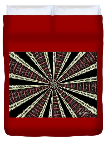 Stained Glass Kaleidoscope 14 Duvet Cover by Rose Santuci-Sofranko