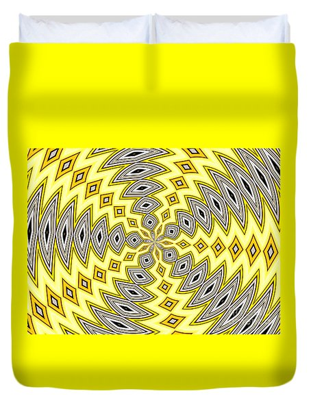 Stained Glass Kaleidoscope 18 Duvet Cover by Rose Santuci-Sofranko