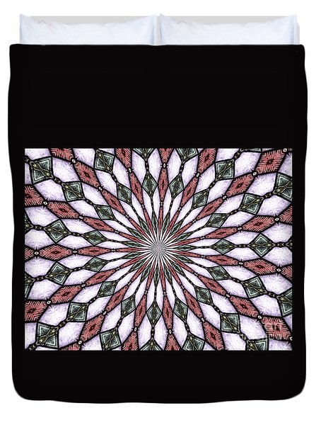 Stained Glass Kaleidoscope 2 Duvet Cover by Rose Santuci-Sofranko
