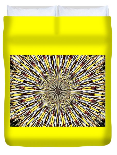 Stained Glass Kaleidoscope 22 Duvet Cover by Rose Santuci-Sofranko