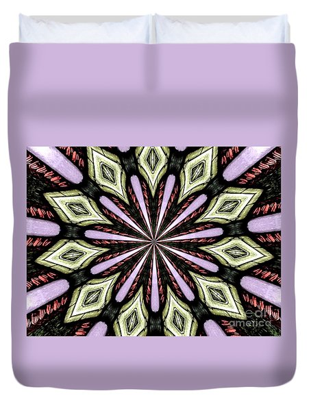 Stained Glass Kaleidoscope 25 Duvet Cover by Rose Santuci-Sofranko