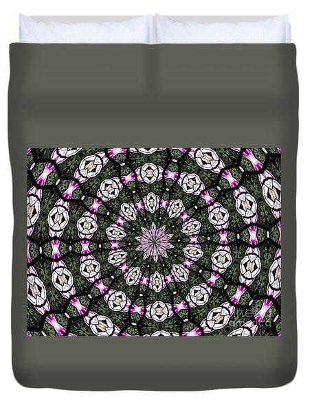 Stained Glass Kaleidoscope 3 Duvet Cover by Rose Santuci-Sofranko