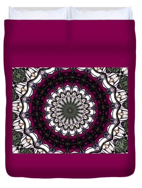 Stained Glass Kaleidoscope 4 Duvet Cover by Rose Santuci-Sofranko