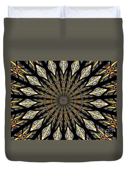 Stained Glass Kaleidoscope 5 Duvet Cover by Rose Santuci-Sofranko