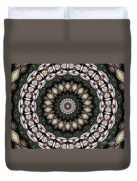 Stained Glass Kaleidoscope 6 Duvet Cover by Rose Santuci-Sofranko