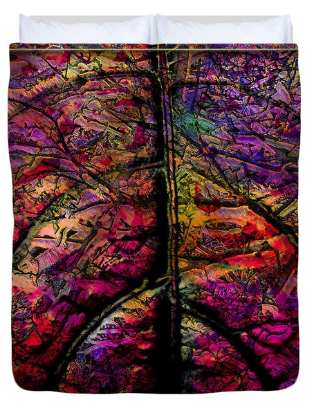 Stained Glass Not Duvet Cover by Barbara Berney