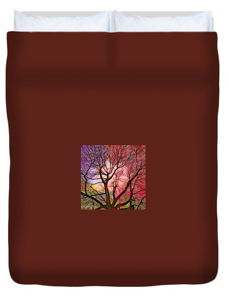 Stained Glass Sunrise 2 Duvet Cover