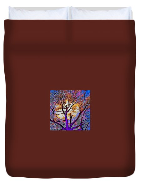 Stained Glass Sunrise Duvet Cover