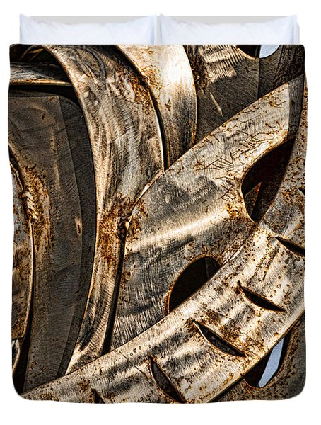 Stainless Abstract Duvet Cover by Christopher Holmes