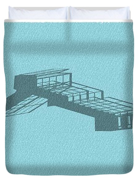 Stair 44 Long Shadow Architect Architecture Duvet Cover