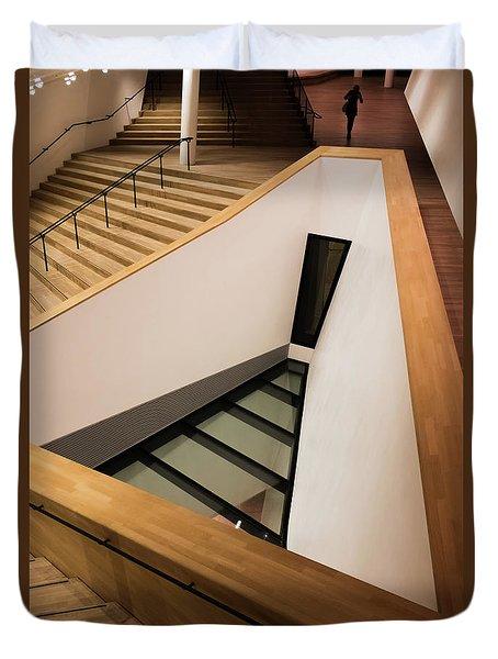 Staircase In Elbphiharmonic Duvet Cover