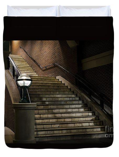 Staircase On The Blvd. Duvet Cover