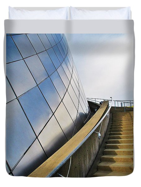 Staircase To Sky Duvet Cover by Martin Cline