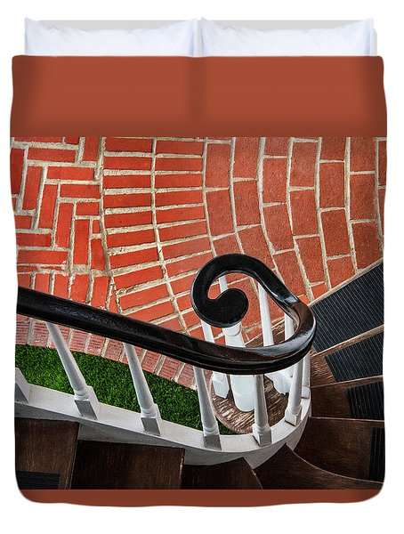 Staircase To The Plaza Duvet Cover