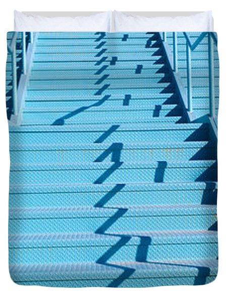 Stairs At Las Vegas, Nevada Duvet Cover