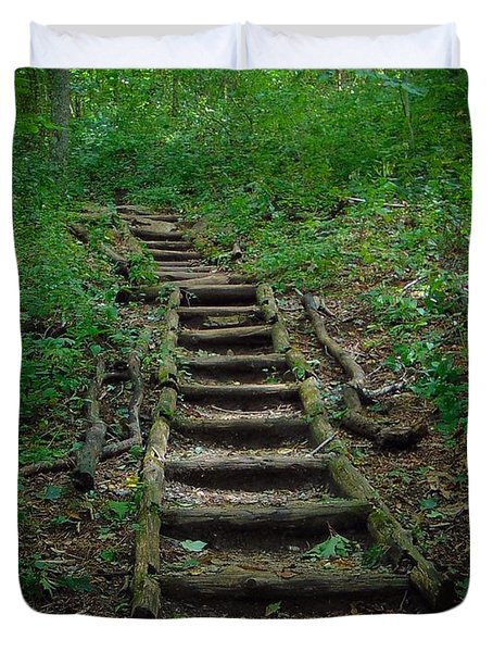 Stairway At Unicoi Gap On The At Duvet Cover