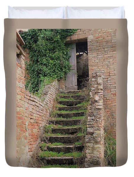 Stairway Less Traveled Duvet Cover