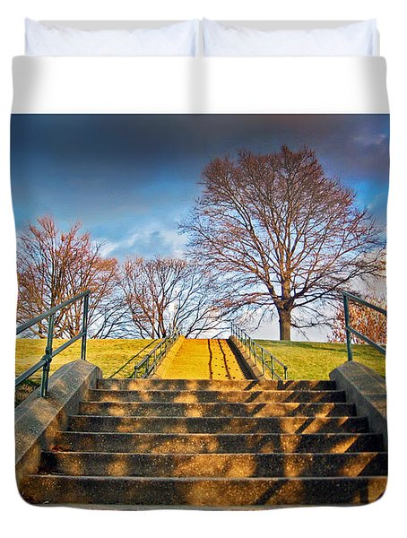 Stairway To Federal Hill Duvet Cover