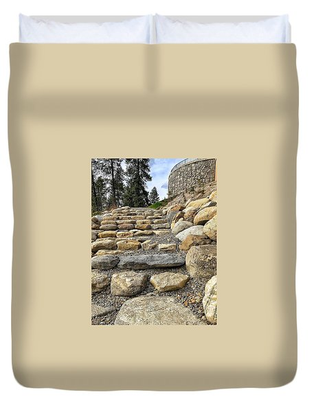Stairway To Glory Duvet Cover